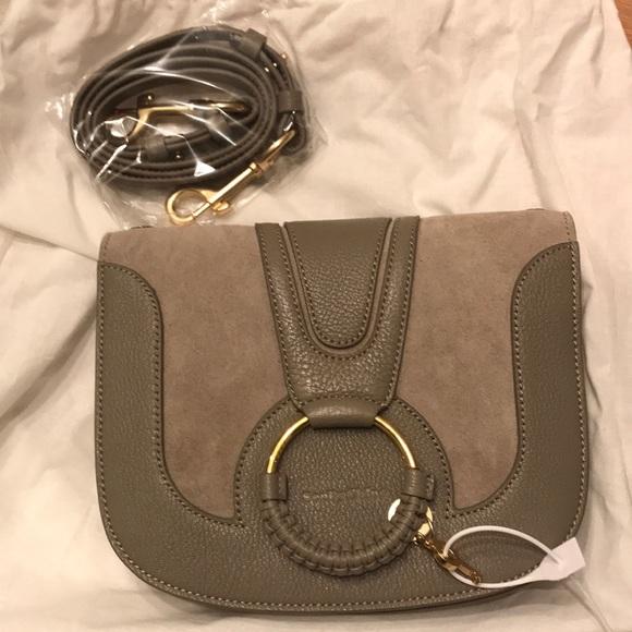 8fee1566ada65 See By Chloe Bags | Hana Medium Saddle Bag In Motty Grey | Poshmark